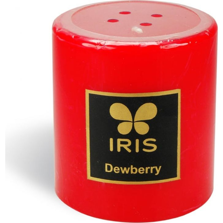 Pillar Wax Candle in Dewberry Colour