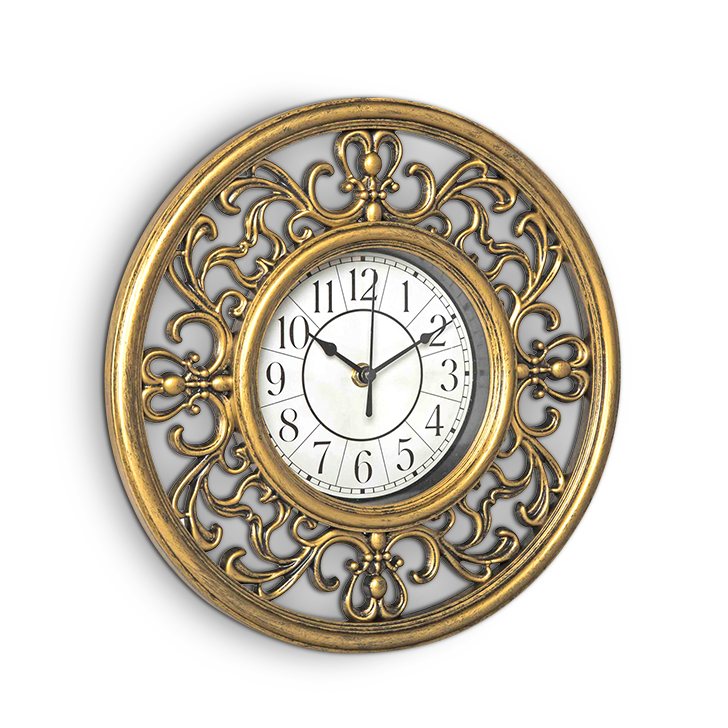 Living Essence Glass Classic Clocks in Gold & Neutral Colour by HomeTown