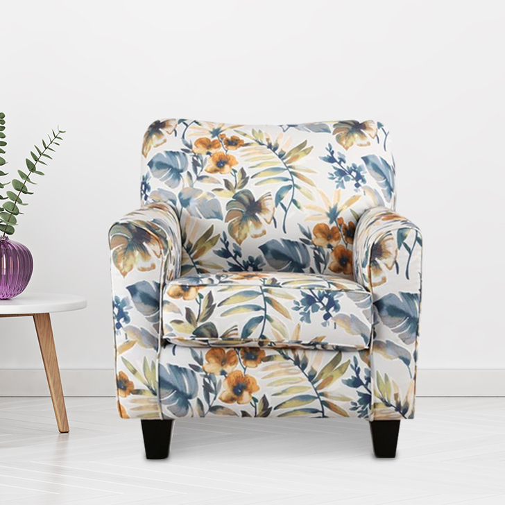 Nicholas Fabric Arm Chair in Brown Colour by HomeTown