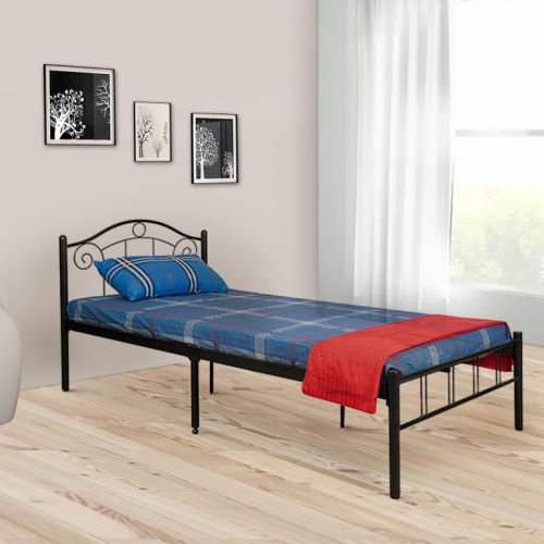 Fiona Wrought Iron Single Bed In Black Colour By HomeTown