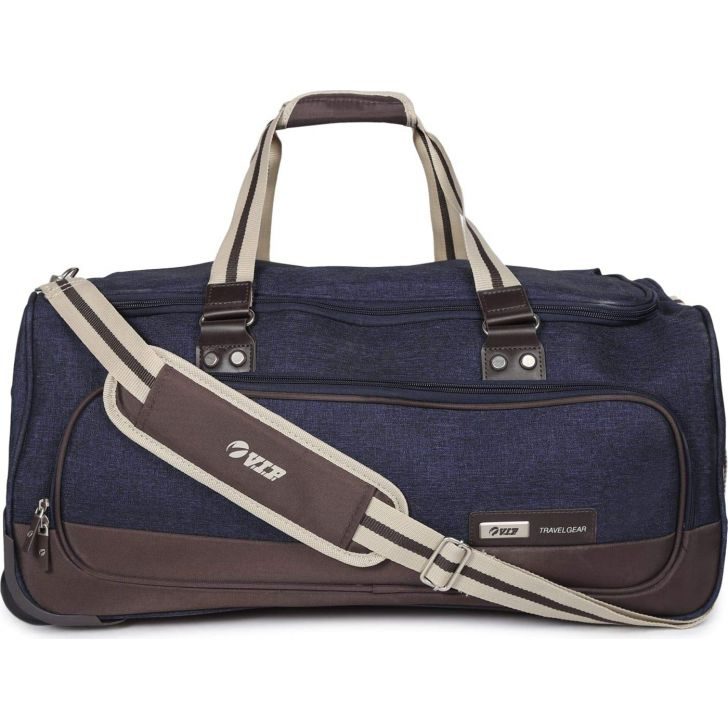 Edger 59 cm Polyester Duffle on Wheel in Blue Colour by VIP