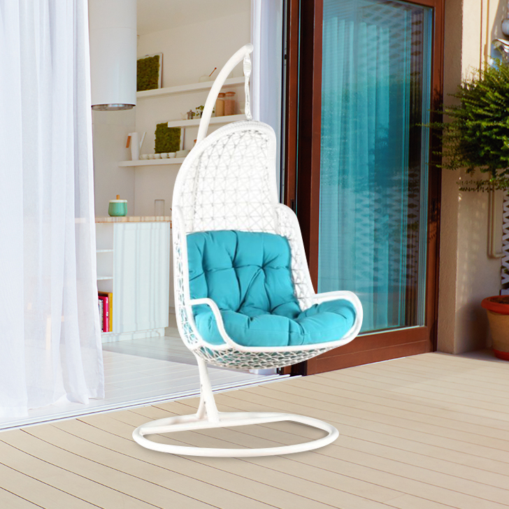 Rihanna Mild Steel Wing Chair in White Colour by HomeTown