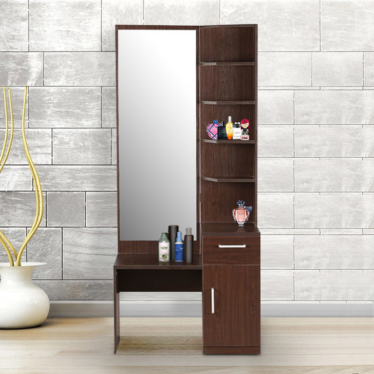 Magnum Engineered Wood Dressing Table in Brown Colour by HomeTown