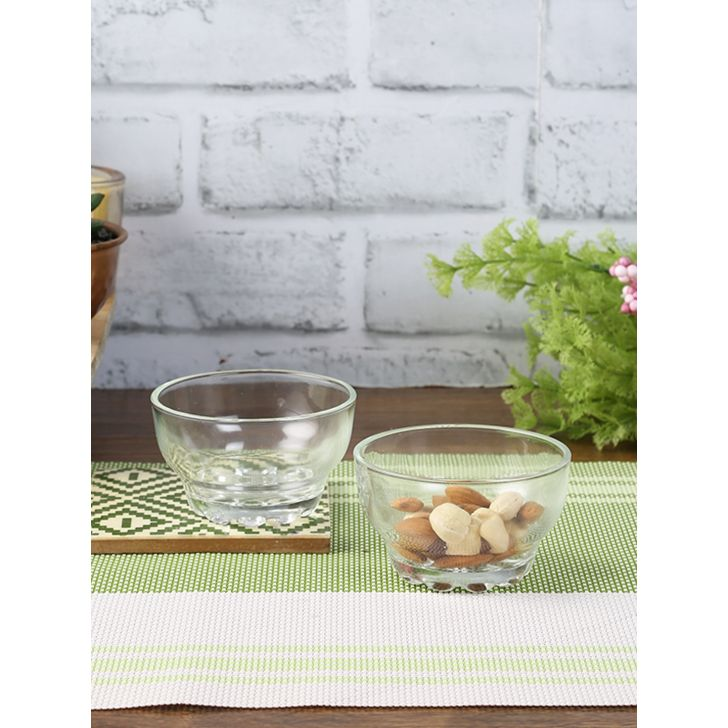 Living Essence Glass Bowls Set of 6 in Transparent Colour by Living Essence