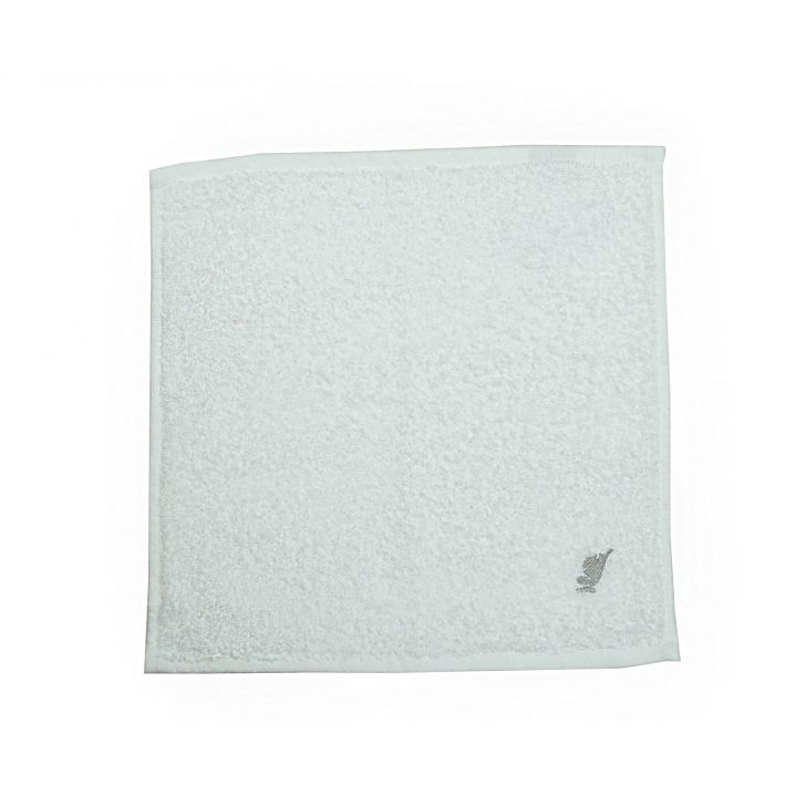 Maspar 550 GSM Embedded Stripe Cotton White Face Towel