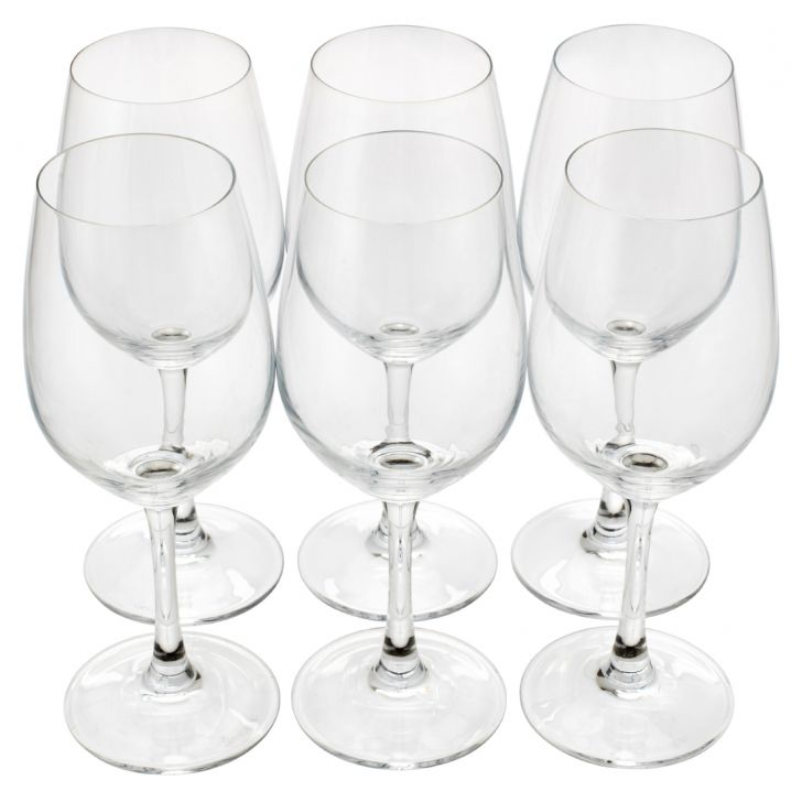 Sp White Wine Glasses Set Of 6 Glass Bar Glassware in Glass Colour by Living Essence