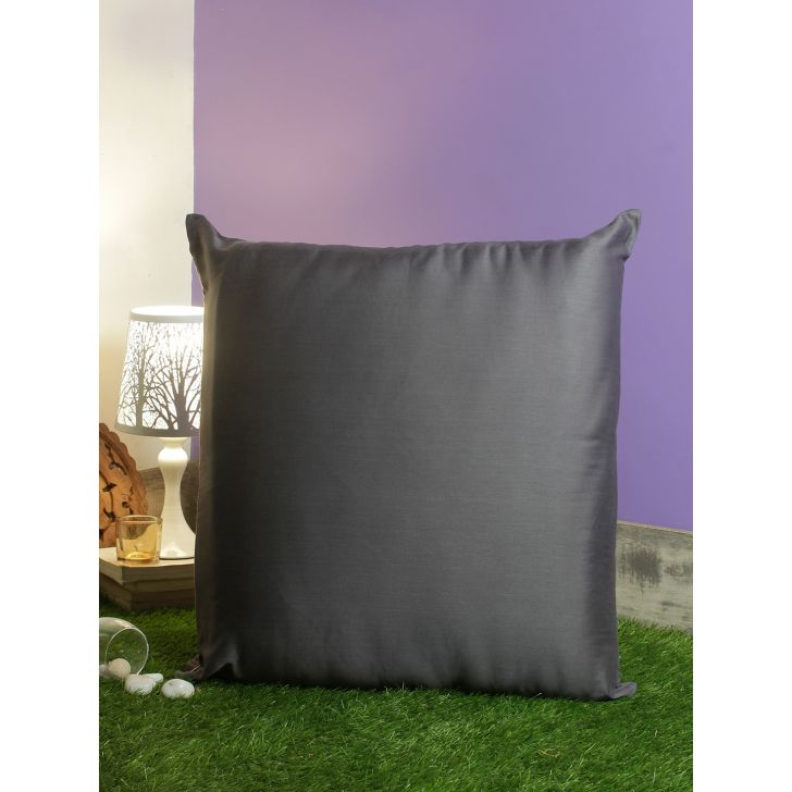 Nora Palette Solid Polyester Cushion Covers in Grey Colour by Living Essence