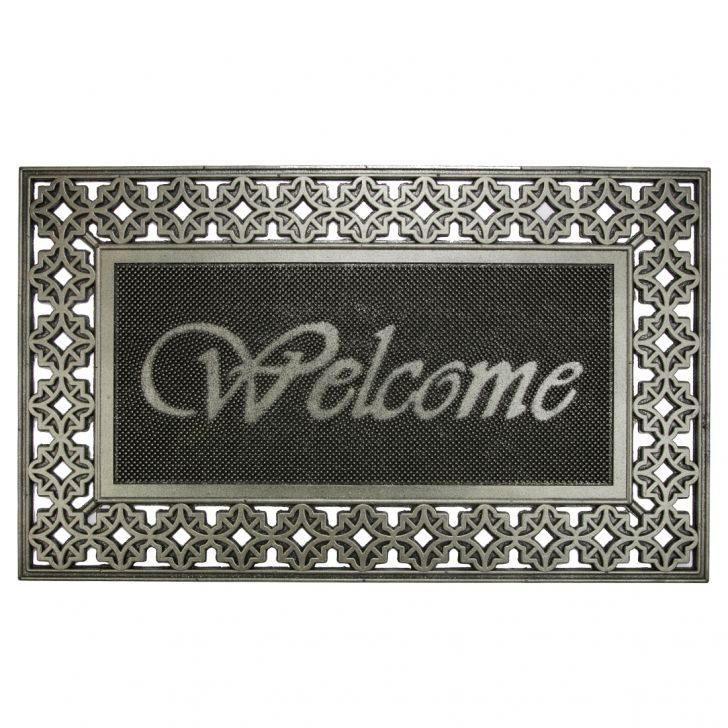 Rubber Combo Pin Mat Rubber Door Mats in Rubber Colour by Living Essence