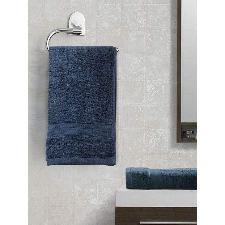 Paradiso Cotton Set Of 2 Hand Towel 40X60 Cm 500 Gsm in Navy Colour