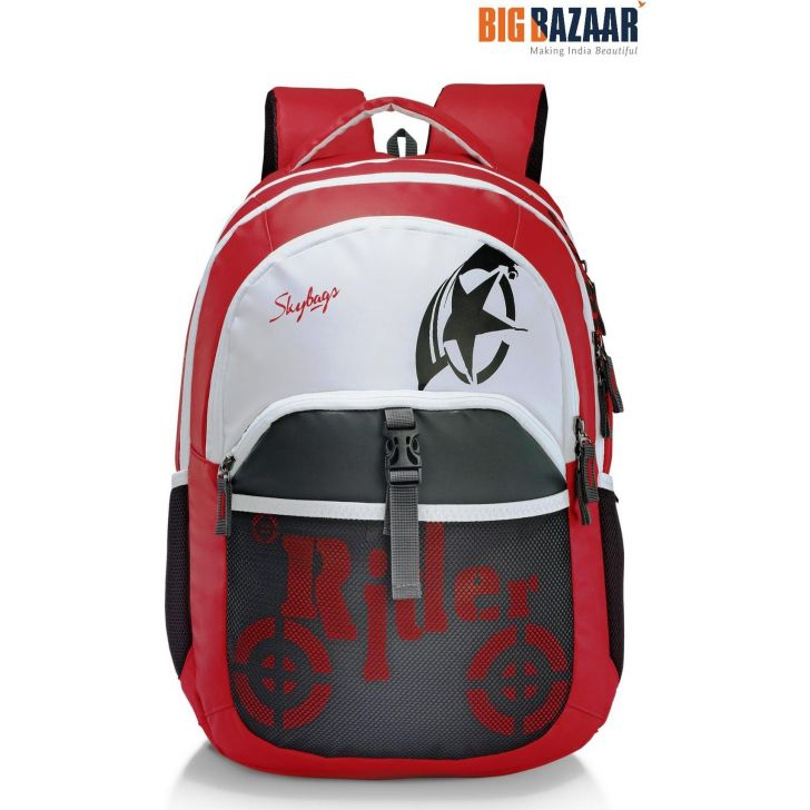 Skater 01 Polyester Laptop Backpack in Red Colour by Skybags