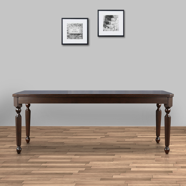 Callisto Solid Wood Eight Seater Dining Table in Brown Colour by HomeTown