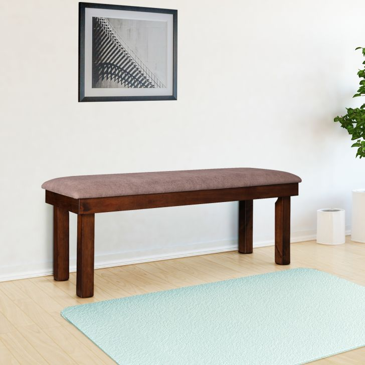 Hopton Solidwood Six Seater Bench in Walnut Colour by HomeTown