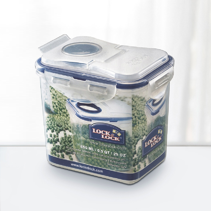 Lock & Lock Classics Rectangular Container with Flip Polypropylene Containers in Transparent Colour by Lock & Lock