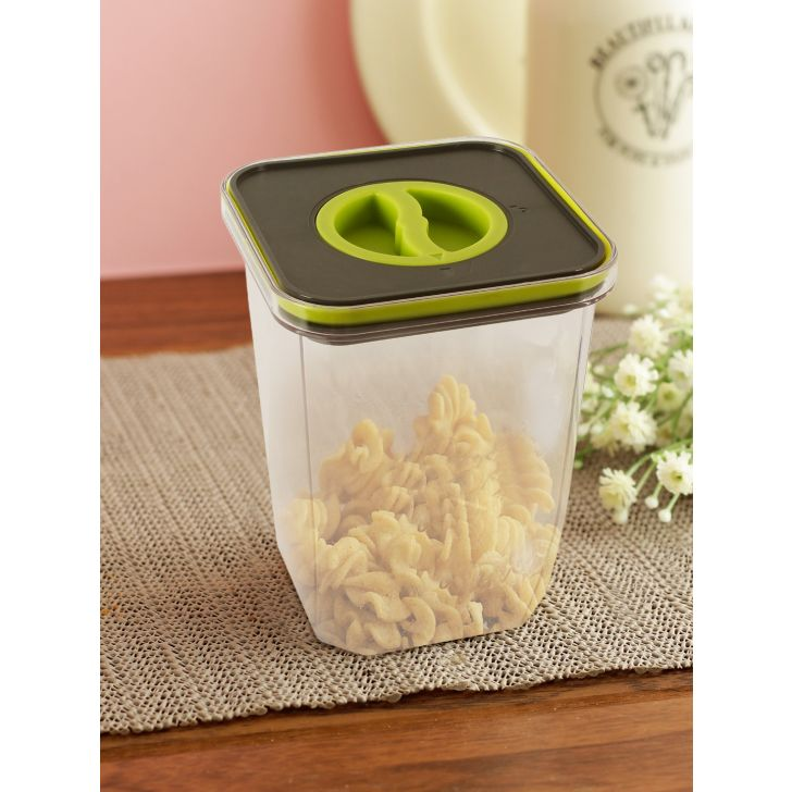 Twist Lock Tritan Square Container 1.5 Ltr Set Of 4 by Living Essence