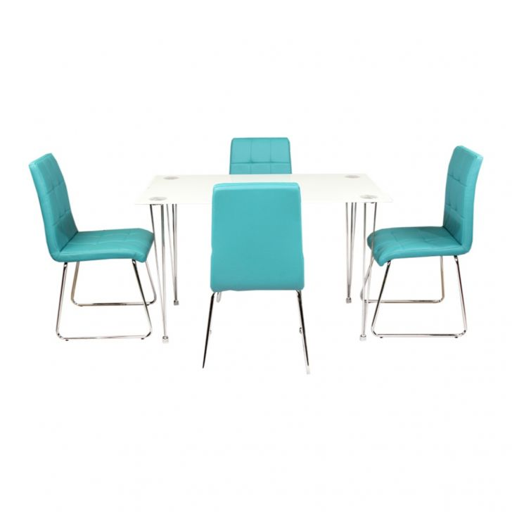 Gloria Metal Four Seater Dining Set in Multi Color Colour by HomeTown