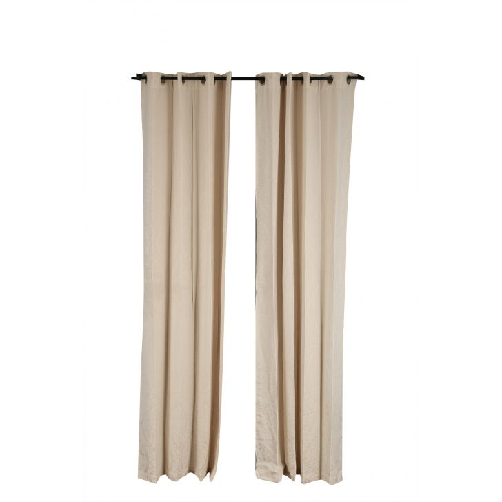 Florina Window Curtain Off Polyester Window Curtains in Off White Colour by Living Essence