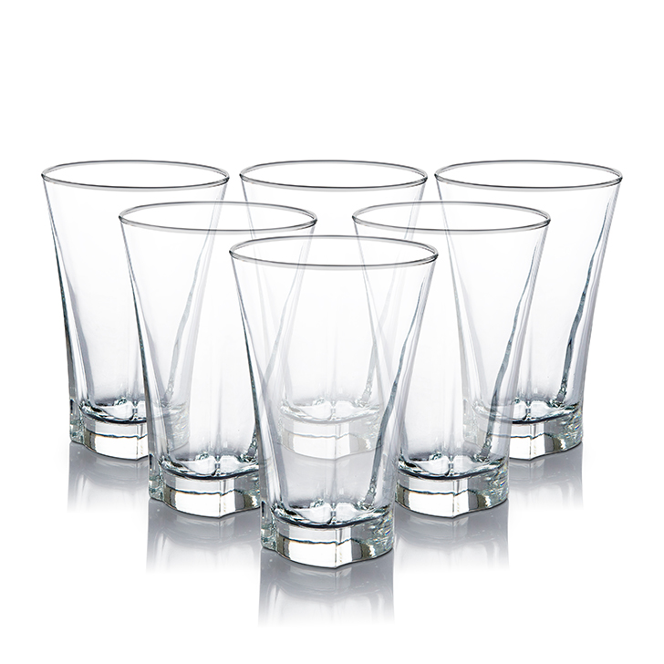 Lyra Truva Long Drink Glass 350 ml Glass Glasses & Tumblers in Transparent Colour by Lyra