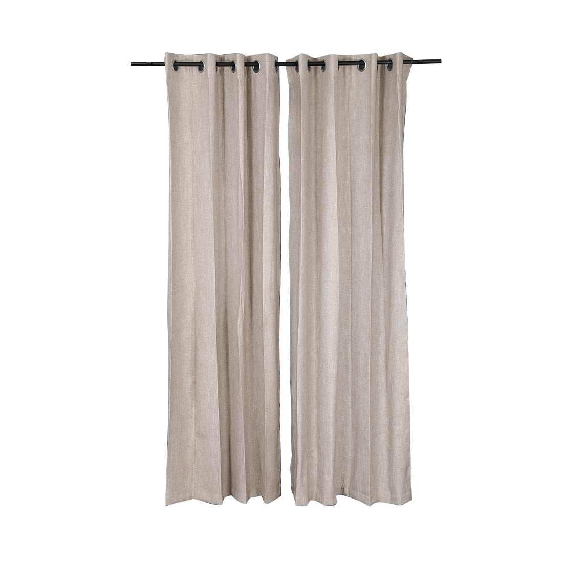 Amour Cotton Polyester Door Curtains in Beige Colour by Living Essence