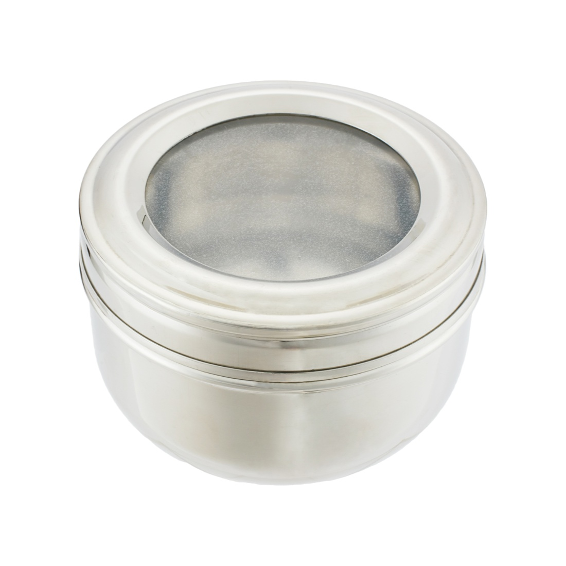 Medium Deep Puri Dabba Stainless steel Containers in Steel Colour by Living Essence