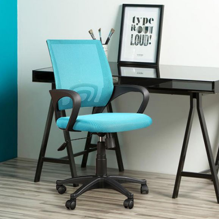 Bolton Fabric Office Chair in Blue Colour by HomeTown