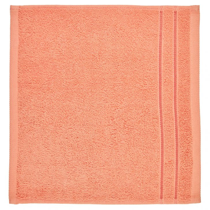 Face Towel Nora Peach Cotton Face Towels in Cotton Colour by Living Essence