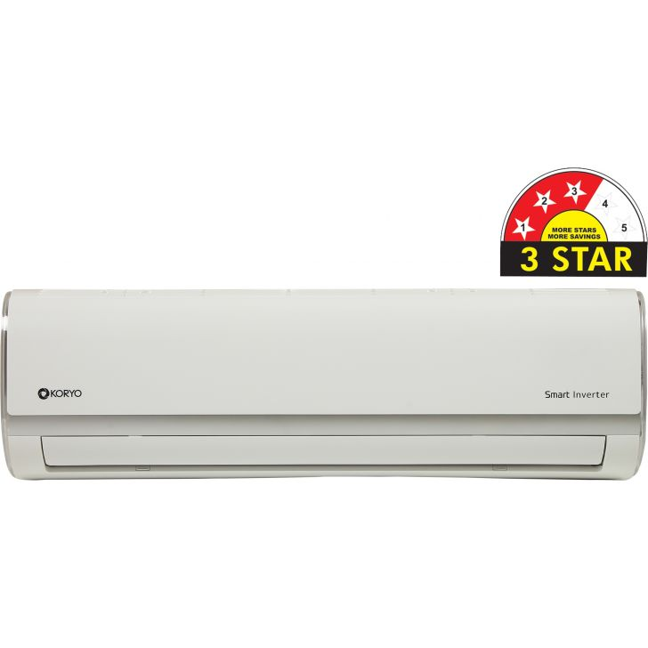Koryo 1.5 Ton 3 Star Split Inverter AC (ISKSIAO2018A3S INS18) in White Colour by Koryo