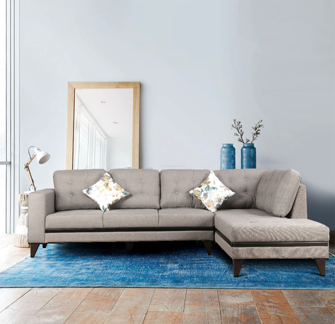 Garcia Fabric Lounger in Grey Colour by HomeTown