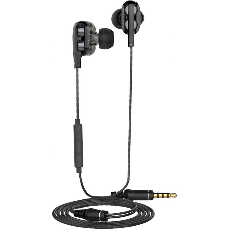 Dual Dynamic Driver Wired Stereo Earphone with Mic by Koryo