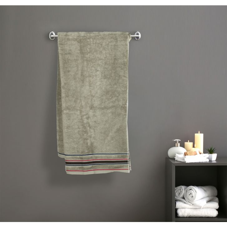 Seriosly Soft Cotton Bath Towels in Green Colour by Cannon