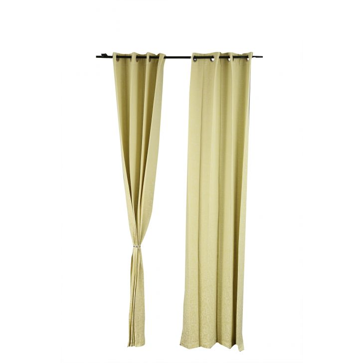 Florina Polyester Door Curtains in Lime Ice Colour by Living Essence