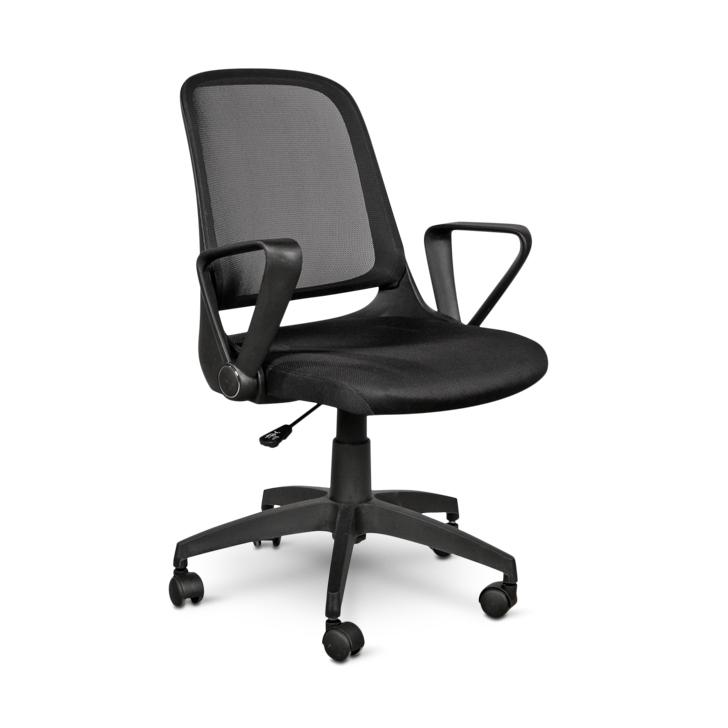 Baxter Nylon Office Chair in Black Colour by HomeTown