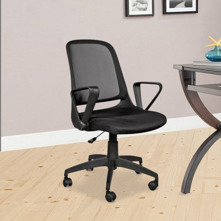 Baxter Nylon Office Chair in Black Color by HomeTown