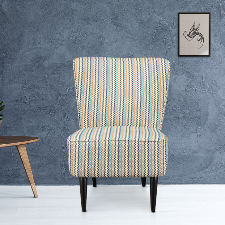 Tremblay Fabric Accent Chair in Rust Colour by HomeTown