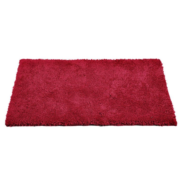 Bath Mat Nora Berry Polyester Bath Mats in Berry Colour by Living Essence