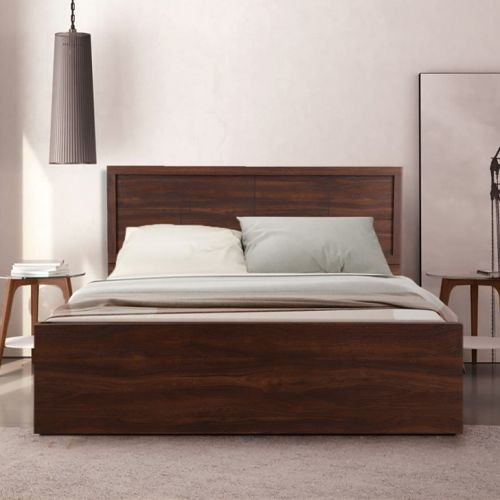 Queen Size Bed.Alana Engineered Wood Box Storage Queen Size Bed In Cocorica Colour By Hometown