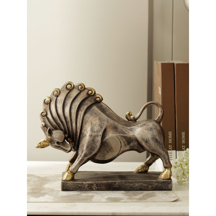 Regal Polyresin Bull Abstract in Multicolor Colour