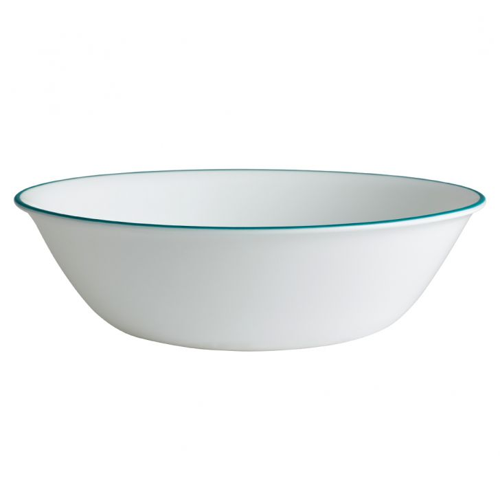 Corelle 1 Ltr Serv Bowl Ocean Blue Vitrelle Serving Bowls in White And Blue Colour by Corelle
