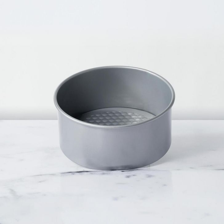 Bakemaster Non-Stick Bakeware - 20Cm Springform Cake Tin Carbon Steel Baking Dish & Trays in Grey Colour by Living Essence