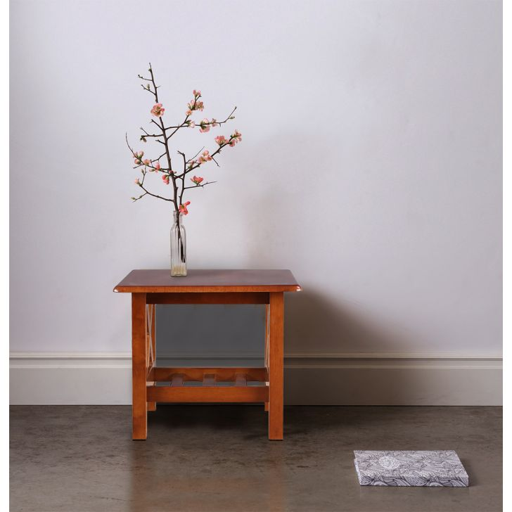 Aldrich Solid Wood End Table in Dirty Oak Colour by HomeTown