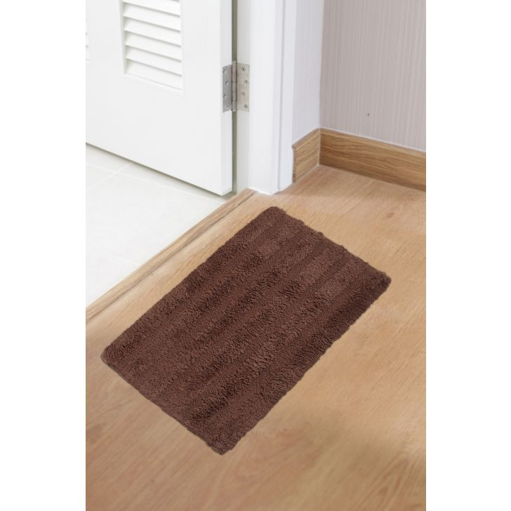 Spaces Polyester Bath Mat in Chesnut Colour by Spaces