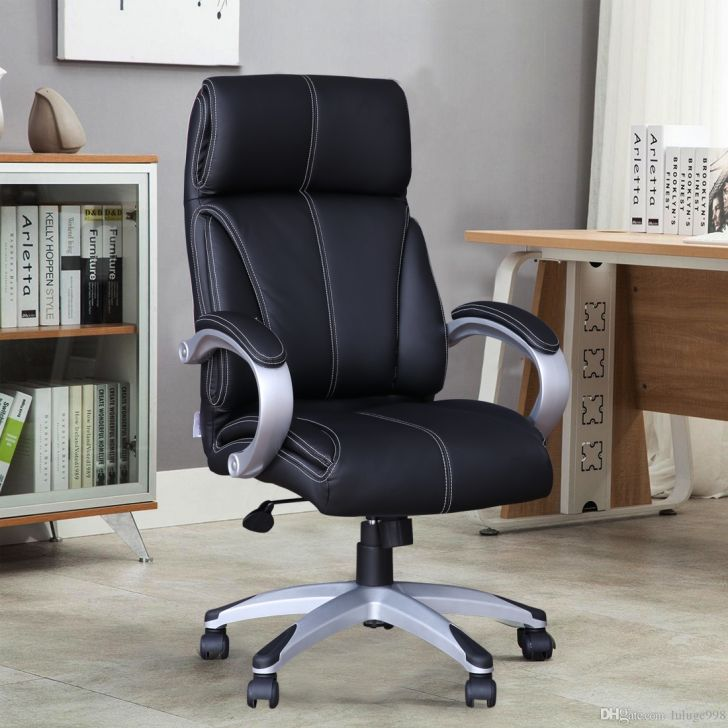 Russell Leatherette High Back Office Chair in Black Colour by HomeTown