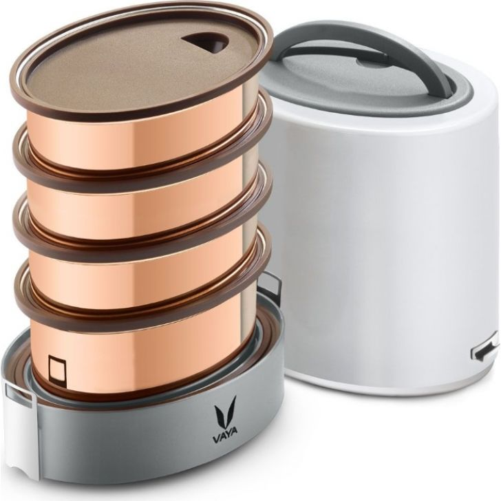 Vaya Tyffyn 1300 Ml - 4 Copper Containers, White