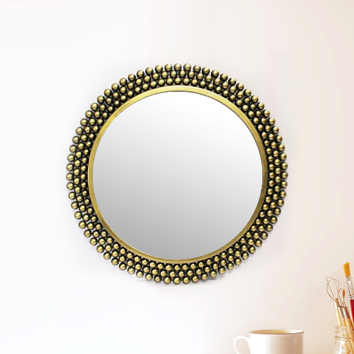 Sarooji Wall Mirror Iron Wall Accents in Multi Colour by Royce