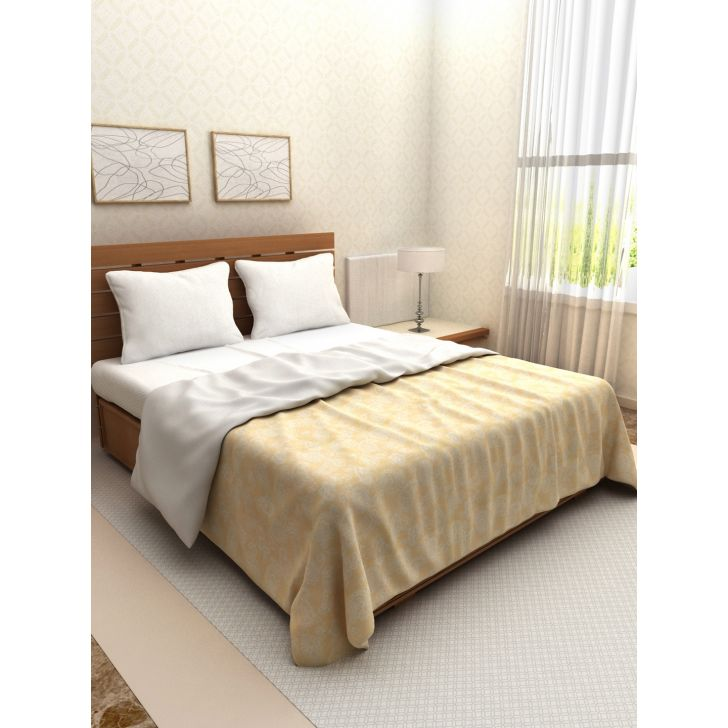 Amour Double Dohar 254X215 CM in Beige Colour by Living Essence