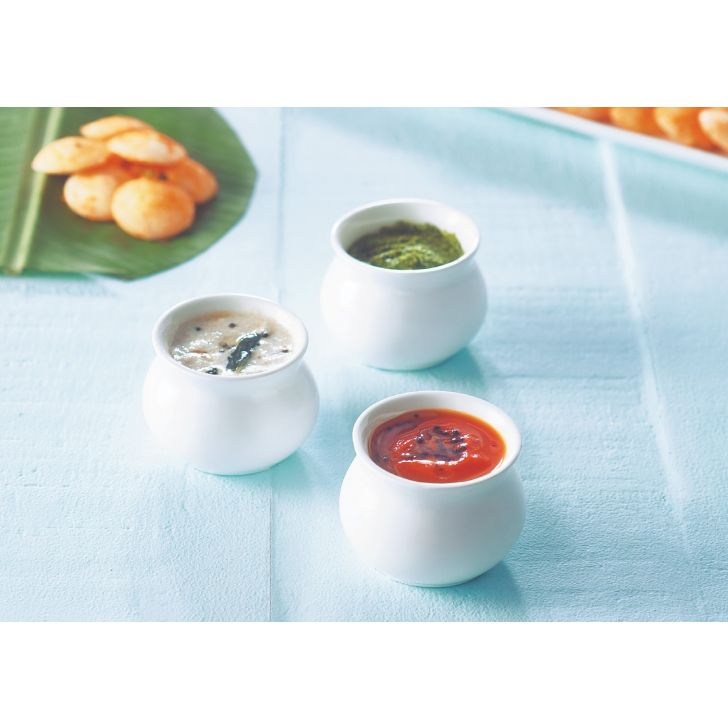 Handi Dip Set Ceramic Serving Sets in White Colour by Songbird