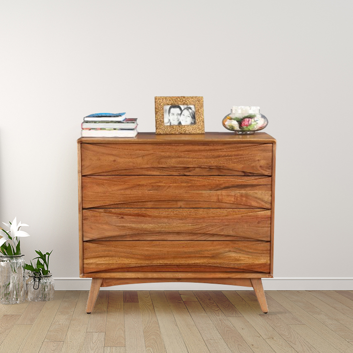 Nordland Acacia Wood Chest of Darwer in Walnut Brown Colour by HomeTown
