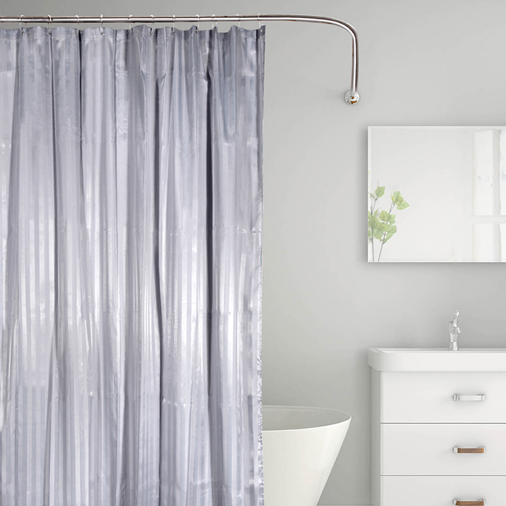 Tangerine Polyester Shower Curtains in Grey Colour by Tangerine