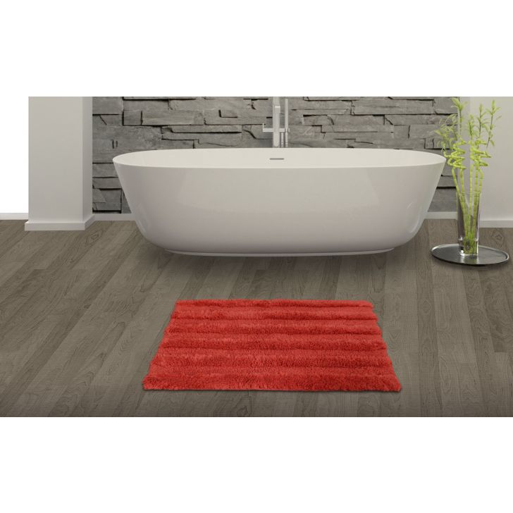 Spaces Swift Dry Red Cotton Bath Mat - Large