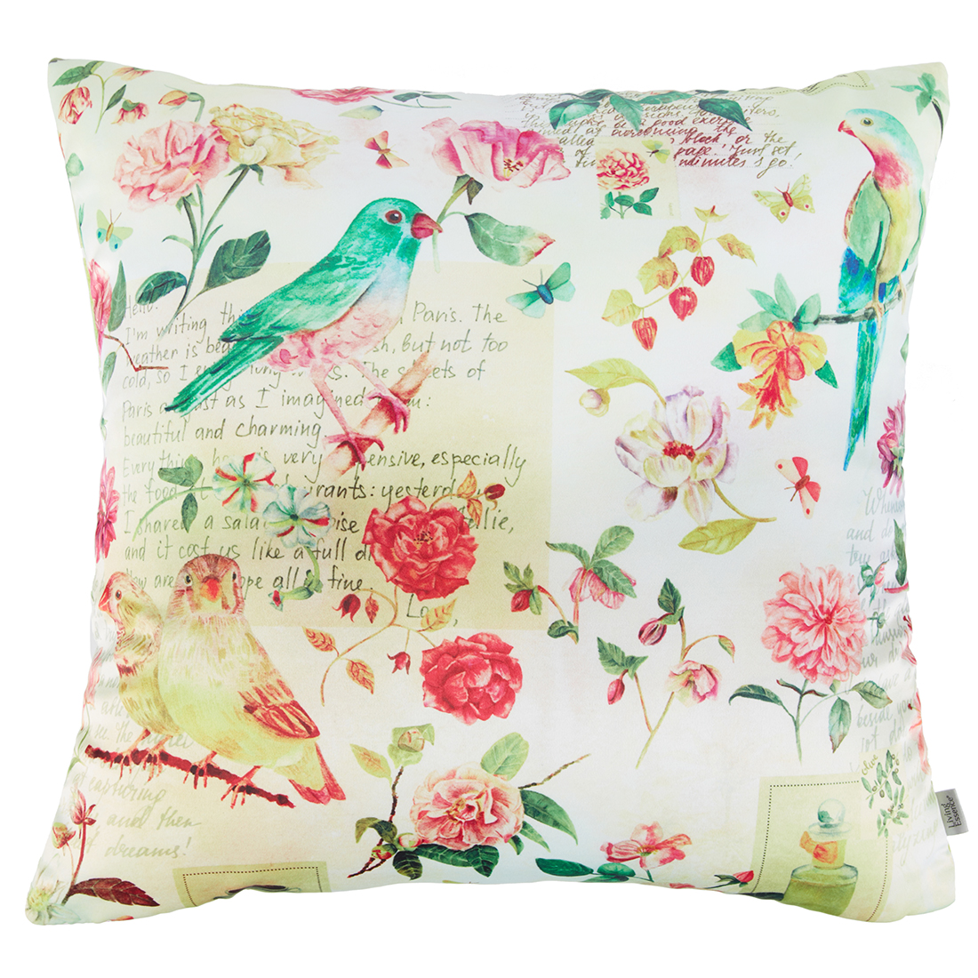 Digital Cushion Cover Parrot Cushion Covers in Poly Satin Colour by Living Essence
