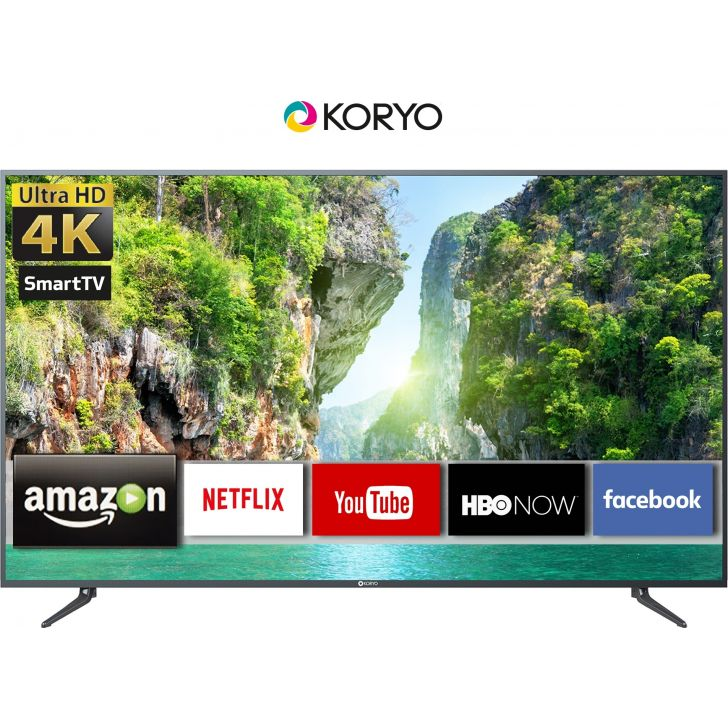 Koryo 163cm (65 inch) Ultra HD (4K) LED Smart Android TV in Black Colour by Koryo